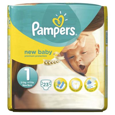 Pampers New Baby Size 1 Carry Pack - 23 nappies
