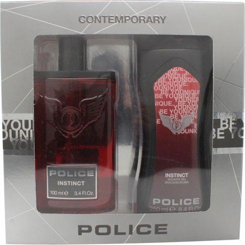 Police Instinct Man Gift Set 100ml EDT + 250ml Shower Gel For Men