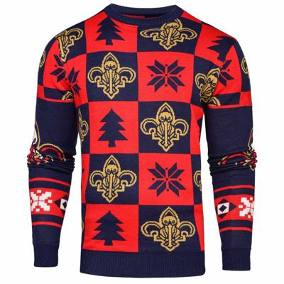 NBA Basketball New Orleans Pelicans Patches Crew Neck Sweater - S