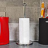 Chrome Stainless Steel Kitchen Tissue Roll Holder Paper Towel Stand Organiser