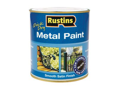 Rustins Metal Paint Smooth Satin Black 1 Litre