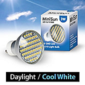 Minisun 3W 58 SMD LED GU10 Light Bulb Cool White