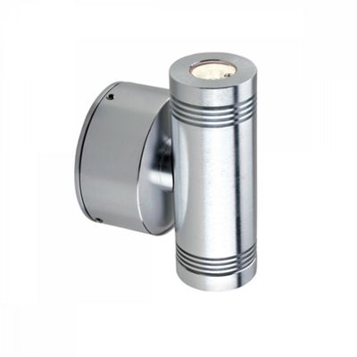 Anodised Aluminium Led Up/Down Wall Light - 2 x 1W LED