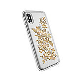 "Speck Presidio Clear + Print 5.8"" Cover Gold Transparent"