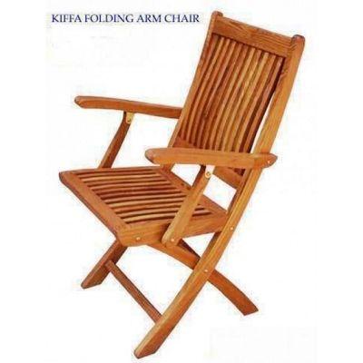 Teak Kiffa Folding Armchair