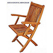 Teak Kiffa Folding Armchair