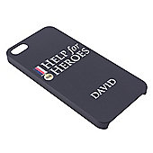 Help for Heroes Personalised Black iPhone 5/5s Cover