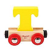 Bigjigs Rail Rail Name Letter T (Yellow)