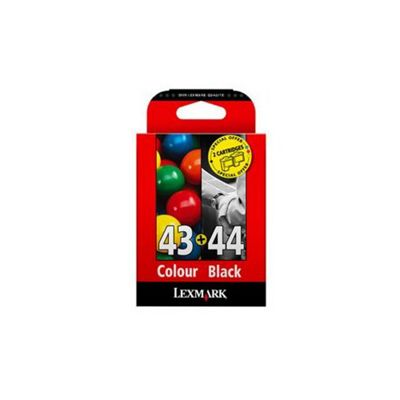 Lexmark No.43XL/44XL Colour Ink Cartridge Multipack 0080D2966