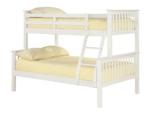 Home Zone Otto Trio Bunk Bed - Solid Off - White