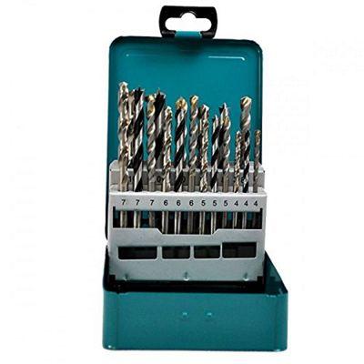 Makita D-47173 18 Piece Mixed Drill Bit Set in Metal Box