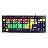 Accuratus Monster 2 USB QWERTY UK English Black Green Red Yellow Keyboard