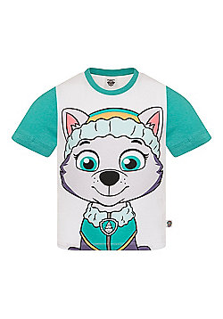 PAW Patrol Boys Kids Character T-Shirt Rocky Chase Rubble - White