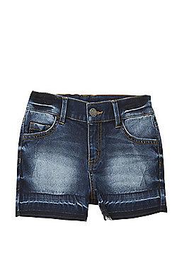 F&F Raw Hem Denim Shorts - Indigo
