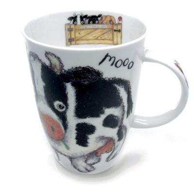 Roy Kirkham Please Shut The Gate Single Mug, Cow
