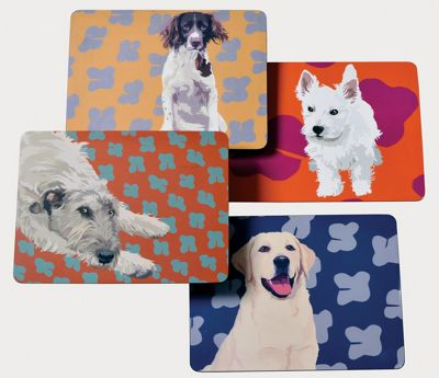 Leslie Gerry Dog Placemats, Set of 4