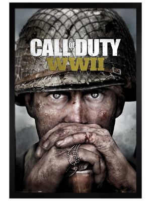 Call of Duty Black Wooden Framed Stronghold WWII Key Art Poster 61x91.5cm