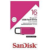 SanDisk Cruzer U USB Flash Drive 16GB Pink