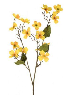 Artificial - Dogwood Spray - Yellow