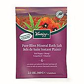 Kneipp Red Poppy & Hemp Pure Bliss Bath Tablet 80g