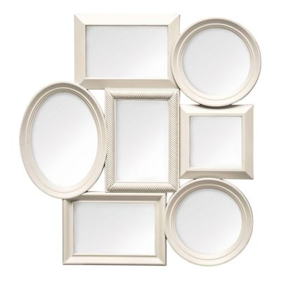 Buy Stylish Multi Photo Frame 7 Photo/Cream Plastic Frame from our ...