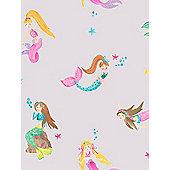 Mermaid World Wallpaper Lilac Arthouse 696102