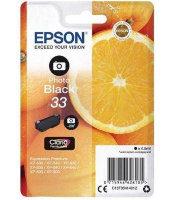 Epson Singlepack Photo Black 33 Claria Premium Ink C13T33414012