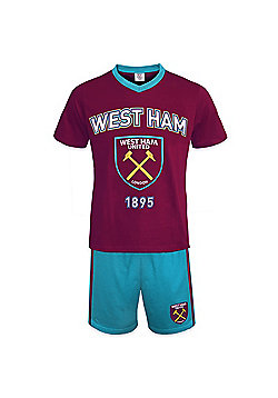 West Ham United FC Mens Short Pyjamas - Red