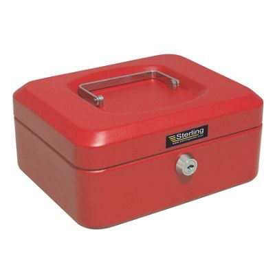 Sterling Red Metal Cash box - Red