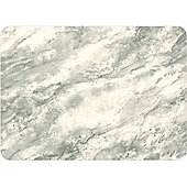 Tuftop 50cm x 40cm Large Glass Worktop Saver, Marble Grey Design, Textured Finish