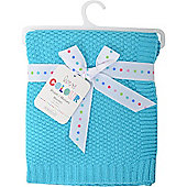 Love Colour Cotton Blanket (Turquoise)