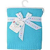 Love Colour Cotton Blanket (Turquoise)