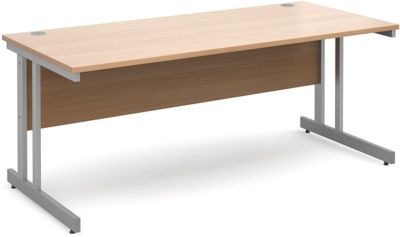 DSK Momento 1800mm Straight Desk - Beech