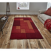 Matrix Modern Rug - Red