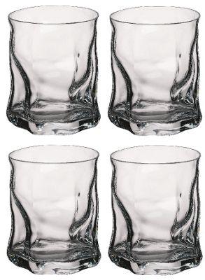 Bormioli Rocco Sorgente Whisky Tumbler Glasses - 420ml (15oz) - Set of 4