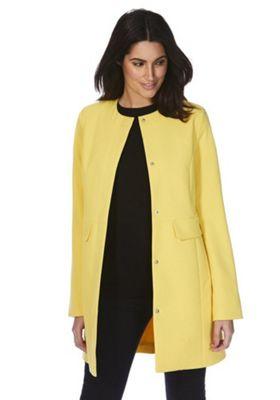 Vero Moda Collarless Coat Yellow L
