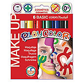 Playcolor Basic Make Up Pocket 5g Face Paint Stick (Pack of 6 - Assorted Colours)