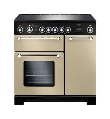 Rangemaster Kitchener KCH90ECCR/C 90cm Ceramic Cream/Chrome