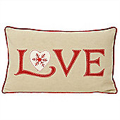Riva Home Nicholas Love Red Christmas Cushion Cover - 30x50cm