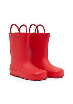 Mothercare Clothing Red Pull On Wellies Wellington Boots Size 1 adlt