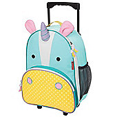 Skip Hop Zoo Kids Rolling Luggage - Unicorn