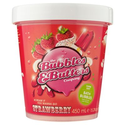 The Bubbles & Butters Company – Scream if you wanna go Strawberry – super soft bath bubbles