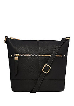 F&F Grained Cross-Body Bucket Bag