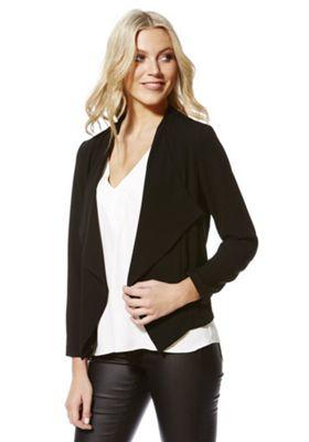 Vero Moda Crepe Open Front Blazer XS Black