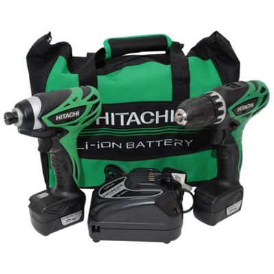 Hitachi 10.8V WH10DF Impact Driver and DS10DF Drill Driver