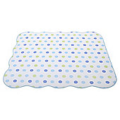 Elephant Spot Baby Coverlet Blue