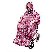 Wheelchair Poncho in Pink Polka Dot