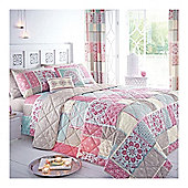Dreams n Drapes Shantar Pink Bedspread - 195x229cm