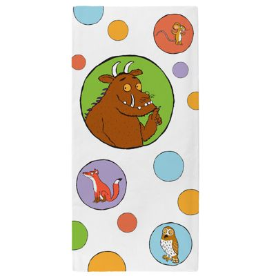 The Gruffalo 'All Is Quiet' Velour Printed Beach Bath Towel