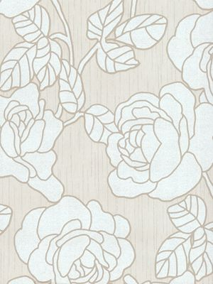 Opal Floral Glitter Wallpaper Cream and White P+S 02492-60